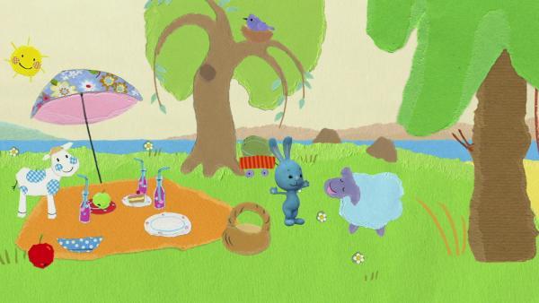 Picknick mit einem gefräßigen Schaf | Rechte: KiKA