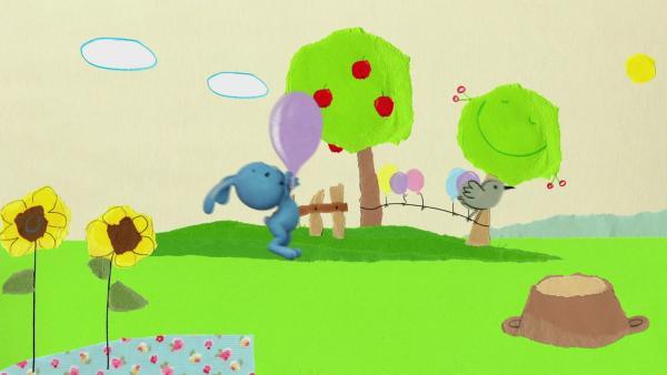 Spiel mit dem Luftballon | Rechte: KiKA