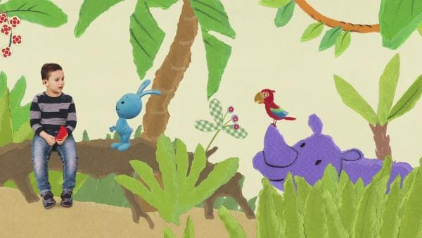 Bei den Dschungeltieren | Rechte: KiKA