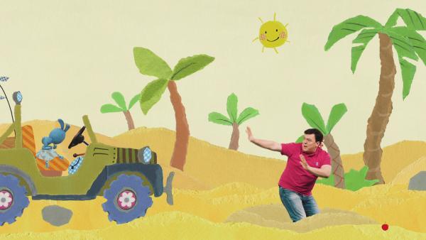 Wüstenfahrt mit Rettung aus einem Treibsandloch | Rechte: KiKA