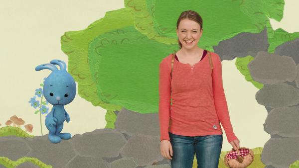 Kikaninchen und Anni haben eine Wunderminute auf einem Berg | Rechte: KiKA