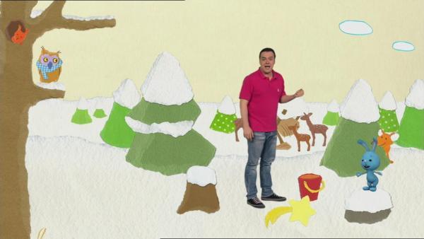 Kikaninchen, Christian und die Waldtiere feiern Weihnachten | Rechte: KiKA