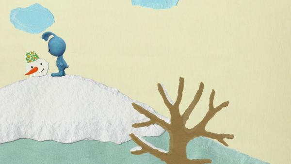 Kikaninchen hilft einem schmelzenden Schneemann | Rechte: KiKA