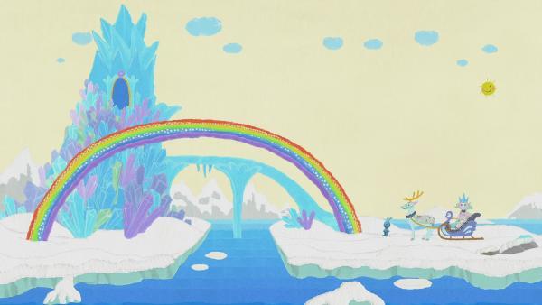 Die Schneekönigin zaubert einen Regenbogen | Rechte: KiKA