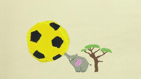 Der Elefantenballonfußball | Rechte: KiKA