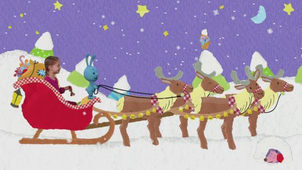 Weihnachtsgeschenk für die Rentiere | Rechte: KiKA