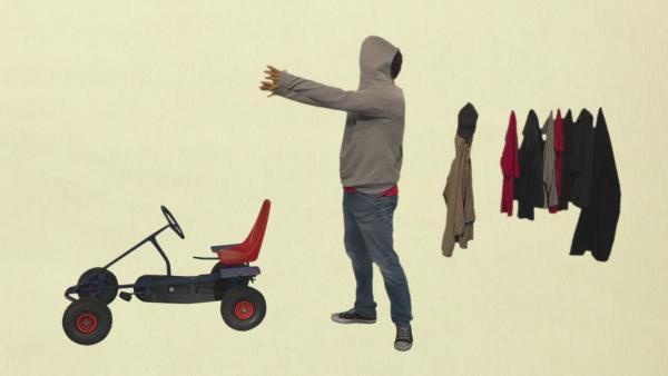 Wie zieht man eine Jacke an? | Rechte: KiKA