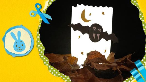 Unheimliche Lichttüte mit Fledermaus | Rechte: KiKA