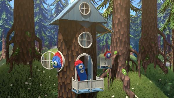Die kleinen Waldwesen haben sich ein Haus gebaut. | Rechte: NDR/Copenhagen Bombay