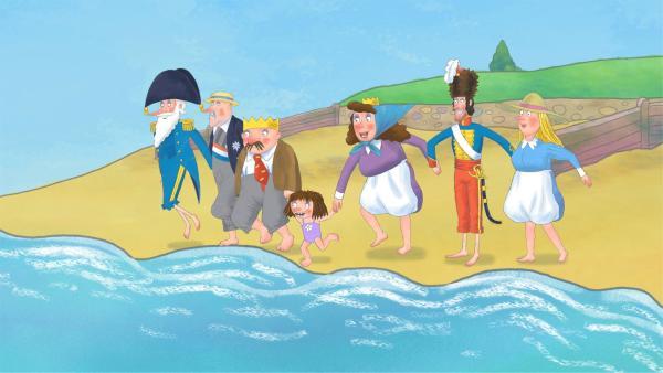 Ein Ausflug ans Meer steht auf dem Plan der Schlossbewohner und alle sind ganz aufgeregt.   Rechte: ZDF/Illuminated Film Company