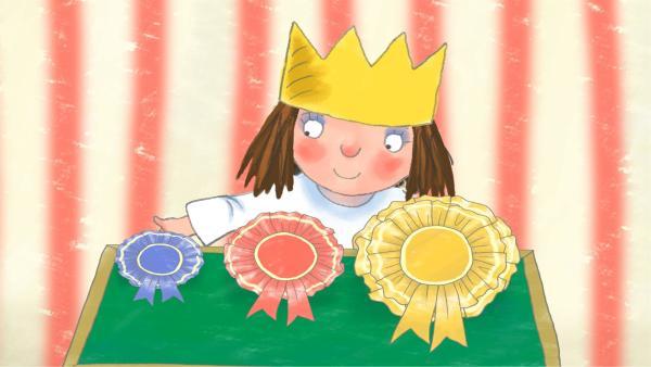 Im Schloss findet der jährliche Talentwettbewerb für Haustiere statt. Die Prinzessin will unbedingt die schöne goldene Siegerschleife gewinnen.   Rechte: ZDF/Illuminated Film Company