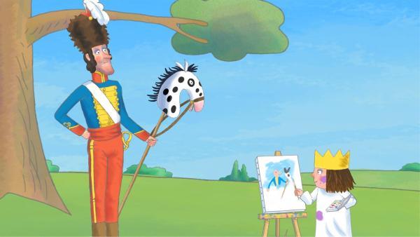 Die Prinzessin betätigt sich als Künstlerin und malt Porträts ihrer Freunde.   Rechte: ZDF/Illuminated Film Company
