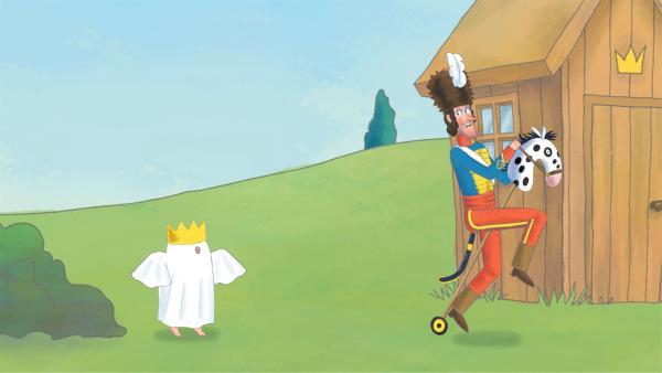 Die Prinzessin möchte Alfi einen Streich spielen. Doch bis ihr das gelingt, bekommen die anderen Schlossbewohner einiges ab. | Rechte: ZDF/Illuminated Film Company