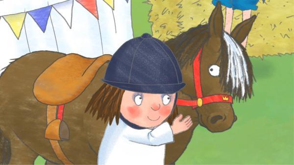 Die kleine Prinzessin und Ferdinand bilden ein Team beim Reitturnier. | Rechte: ZDF/Illuminated Film Company