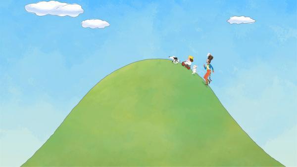 Die kleine Prinzessin treibt den General den Berg hoch.   Rechte: ZDF/Illuminated Film Company