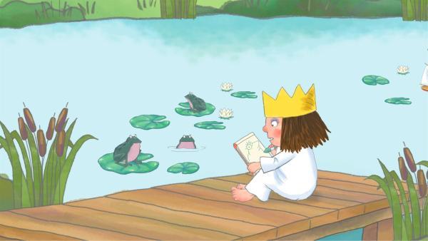 Die kleine Prinzessin zeichnet gerne Frösche.   Rechte: ZDF/Illuminated Film Company