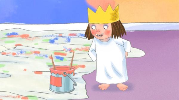 Die kleine Prinzessin will einen neuen Anstrich für ihr Kinderzimmer. | Rechte: ZDF/Zodiak Kids