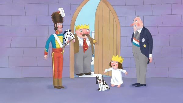 Die Prinzessin ist verzweifelt. Weder der General, noch der König und der Premierminister wissen, wo Murr ist. | Rechte: ZDF/The Illuminated Film Company