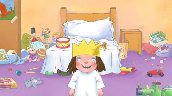 Die Prinzessin hat sich sehr viel vorgenommen, da muss das Aufräumen ihres Zimmers warten. | Rechte: ZDF/The Illuminated Film Company