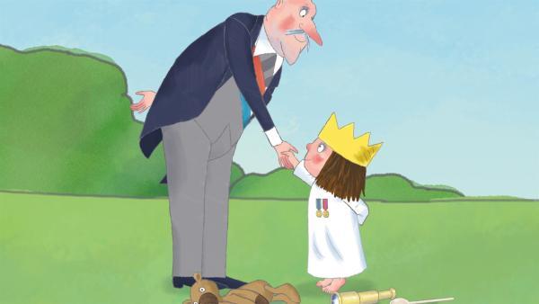 Die kleine Prinzessin (re.) kann sich nicht entscheiden, was sie werden will. Und so befragt sie jeden ihrer Freunde, so auch den Premierminister. | Rechte: ZDF/Illuminated Film Ltd.