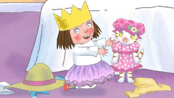 Die kleine Prinzessin kann sich nicht entscheiden, was sie einmal werden will. | Rechte: ZDF/Illuminated Film Ltd.