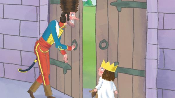 Die kleine Prinzessin will nicht immer auf die Hilfe der Erwachsenen angewiesen sein und viele Dinge auch einmal alleine machen. Doch leider gibt es da so manches Hindernis, wie z.B. zu hohe Türklinken. | Rechte: ZDF/Illuminated Film Ltd.