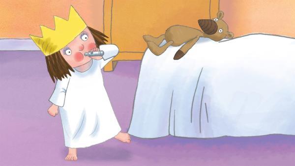 Die kleine Prinzrssin möchte auch gerne pfeifen können. | Rechte: ZDF/Illuminated Film Ltd.