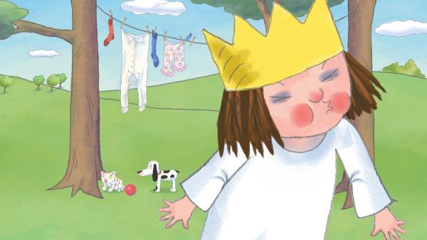 Die kleine Prinzessin möchte auch gerne pfeifen können, doch es will ihr nicht so richtig gelingen. | Rechte: ZDF/Illuminated Film Ltd.