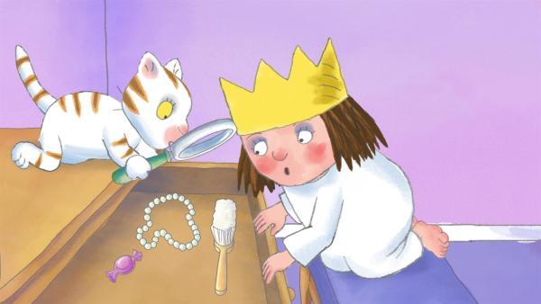 Die Kleine Prinzessin sucht im ganzen Schloss nach ihrem Schnuller und entdeckt dabei, dass jeder Erwachsene eine Marotte hat, die er nicht lassen möchte. | Rechte: ZDF/Illuminated Film Ltd.