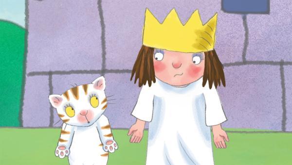 Die kleine Prinzessin will nicht zugeben, dass sie die Plätzchen weggenommen hat. | Rechte: ZDF/Illuminated Film Ltd.