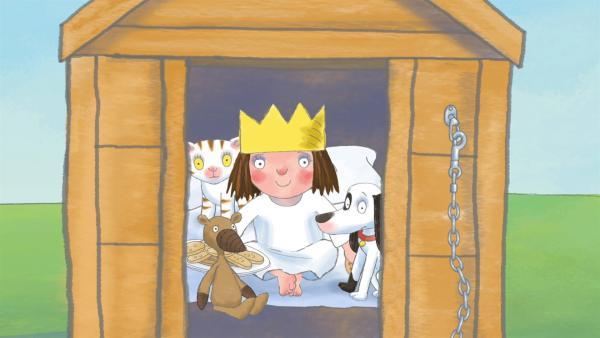 Gewissensbisse lassen die Prinzessin nicht schlafen. Sie beichtet und will in die Hundehütte gesperrt werden. | Rechte: ZDF/Illuminated Film Ltd.