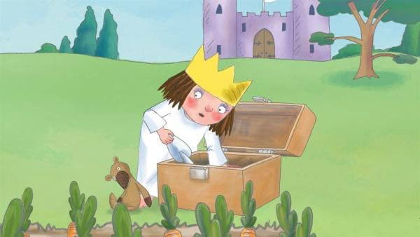 Der König bekommt eine Spieldose mit einem Trompeter oben drauf geschenkt. Die kleine Prinzessin will auch eine Trompete! | Rechte: ZDF/Illuminated Film Ltd.
