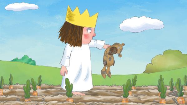 Die kleine Prinzessin liebt ihren Teddy Gisbert über alles und nimmt ihn überall hin mit. Gisbert muss auch gefährliche Situationen bestehen, mit dem Segelboot schlingern und durch den Schlosspark fliegen. | Rechte: ZDF/Illuminated Film Ltd.