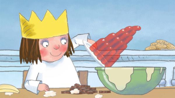 Die kleine Prinzessin möchte unbedingt einen Geburtstagskuchen für den General backen. Doch das ist gar nicht so einfach. | Rechte: ZDF/Illuminated Film Ltd.