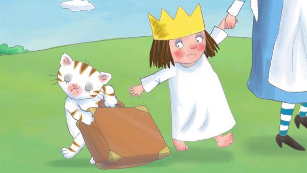 Das Kindermädchen vermutet Läuse bei der Kleinen Prinzessin. Alle Schlossbewohner halten sich von der Prinzessin fern, so dass sie traurig alleine spielen muss. | Rechte: ZDF/Illuminated Film Ltd.