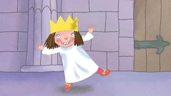 Die kleine Prinzessin mag ihre neuen Schuhe unheimlich gern - und deshalb werden sie erst einmal nicht mehr ausgezogen. | Rechte: ZDF/Illuminated Film Ltd.