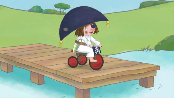 Die kleine Prinzessin hat sich als Piratin verkleidet. | Rechte: ZDF/illuminated