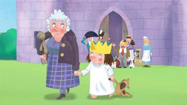 Die kleine Prinzessin wird von der Tante abgeholt. | Rechte: ZDF/illuminated