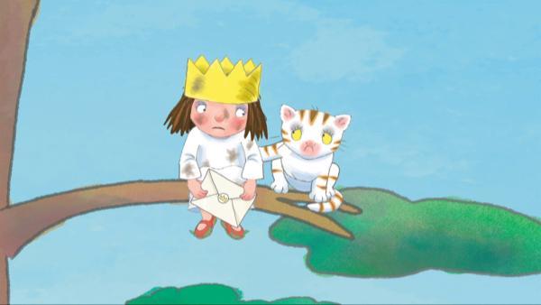 Die kleine Prinzessin hat einen Brief von ihrer Tante bekommen. | Rechte: ZDF/illuminated
