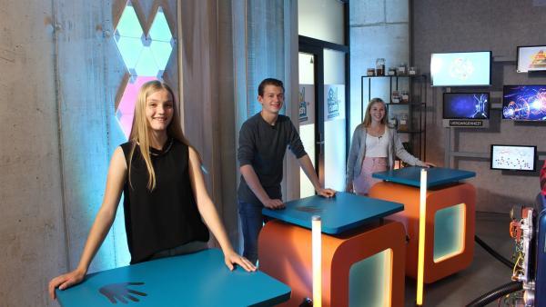 Regina, Paul und Celine vom Team Vergangenheit. | Rechte: ZDF/Oliver Landgraf