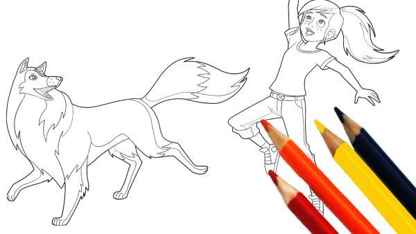 Lassie und Zoe zum Ausmalen, Buntstifte | Rechte: Classic Media, DQ Entertainment, Superprod