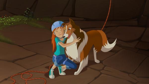 Zoe, ihre Eltern, Harvey und Lassie befreien Kletterer aus ihrer ausweglosen Situation. | Rechte: ZDF/Classic Media/DC Entertainment/Superprod