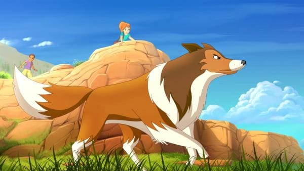 Lassie wittert Gefahr. | Rechte: ZDF/Classic Media/DC Entertainment/Superprod