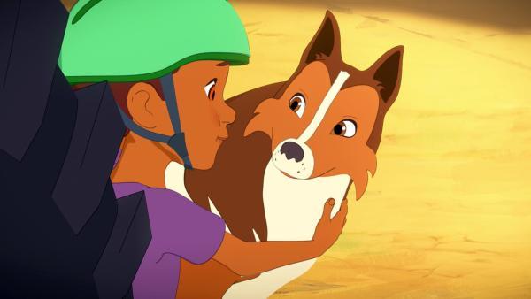 Harvey und Lassie schauen sich zuversichtlich an. | Rechte: Superprod, ZDF, ZDFE