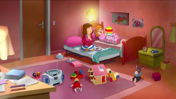 Laura macht die Übernachtungsparty bei ihrer besten Freundin Sophie großen Spaß.   Rechte: ZDF/Mondo tv/ZDF-E