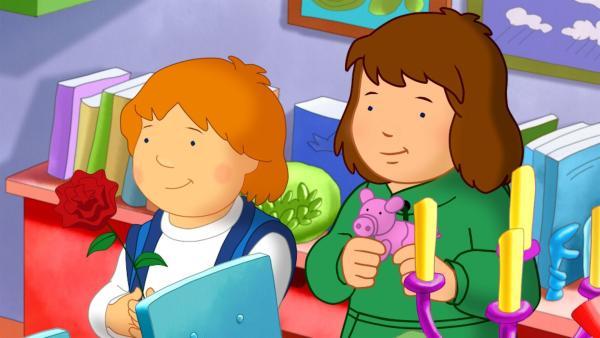 Zu Frau Federleins Geburtstagsfeier im Kindergarten darf auch Lauras Bruder Tommy  mitkommen.   Rechte: ZDF/Mondo tv/ZDF-E