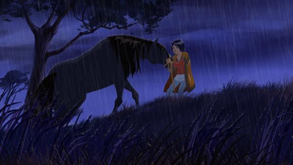 Eines nachts findet Lena ein verschrecktes Pferd, das von Männern, mit offensichtlich bösen Absichten, gesucht wird. | Rechte: hr/Tele Images