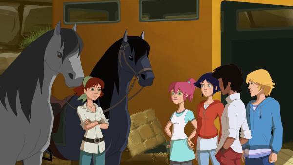 Cindy sucht die Nähe zu den vier Freunden.   Rechte: hr/Tele Images