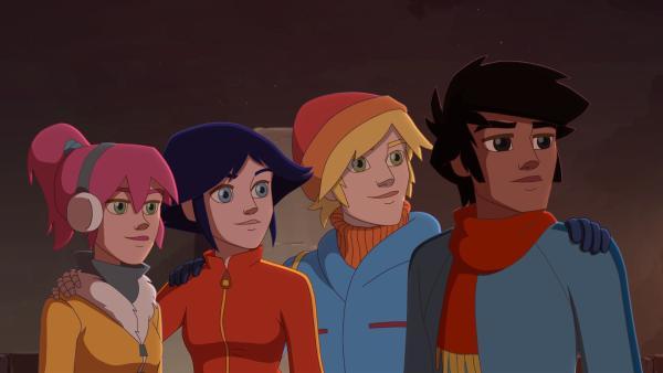Die vier Freunde vereint: (v.l.) Anna, Lena, Nico und Angelo. | Rechte: hr/Télé Images