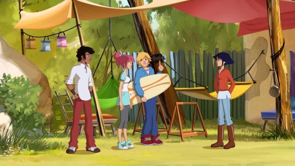 (v.l.) Angelo, Anna, Nico und Lena | Rechte: hr/Télé Images